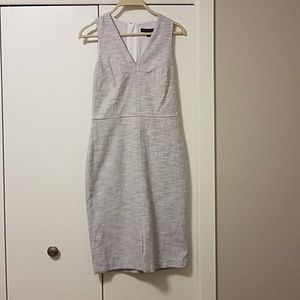 Light grey and white dress